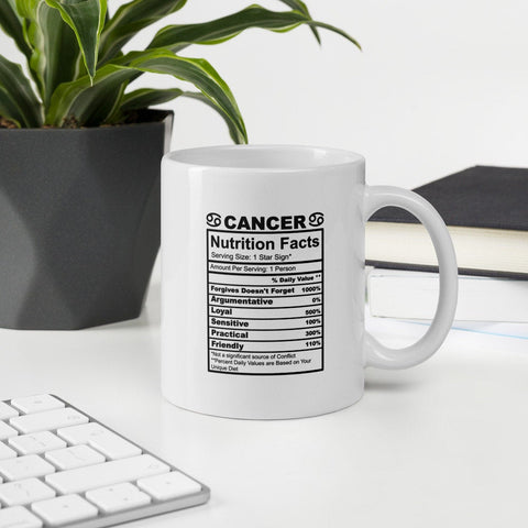 Cancer Nutrition Facts Zodiac Nutrition Facts Vol. 1 Mug