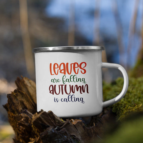 Leaves are Falling Autumn is Calling Fall Vol. 5 Camp Mug