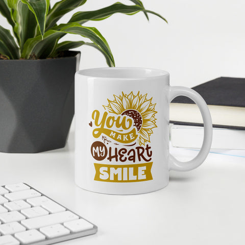 You Make My Heart Smile Sunflower Vol. 1 Mug