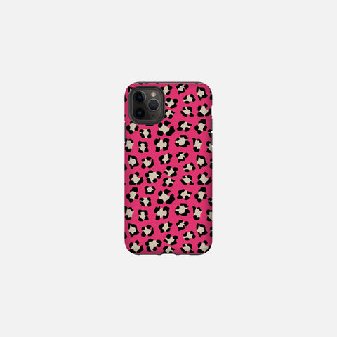 Valentine Dark Pink Leopard Print Tough Case