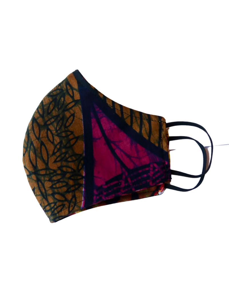 Load image into Gallery viewer, Uganda Reversible 3-Layer Face Mask (Adult Unisex)