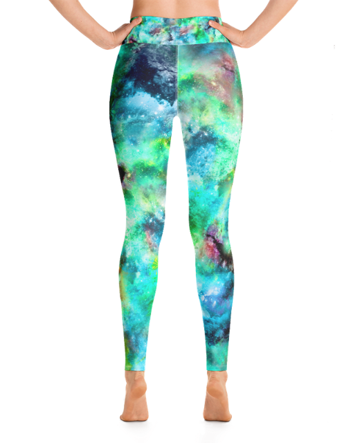 Load image into Gallery viewer, Green Goddess High-Waisted Yoga Leggings