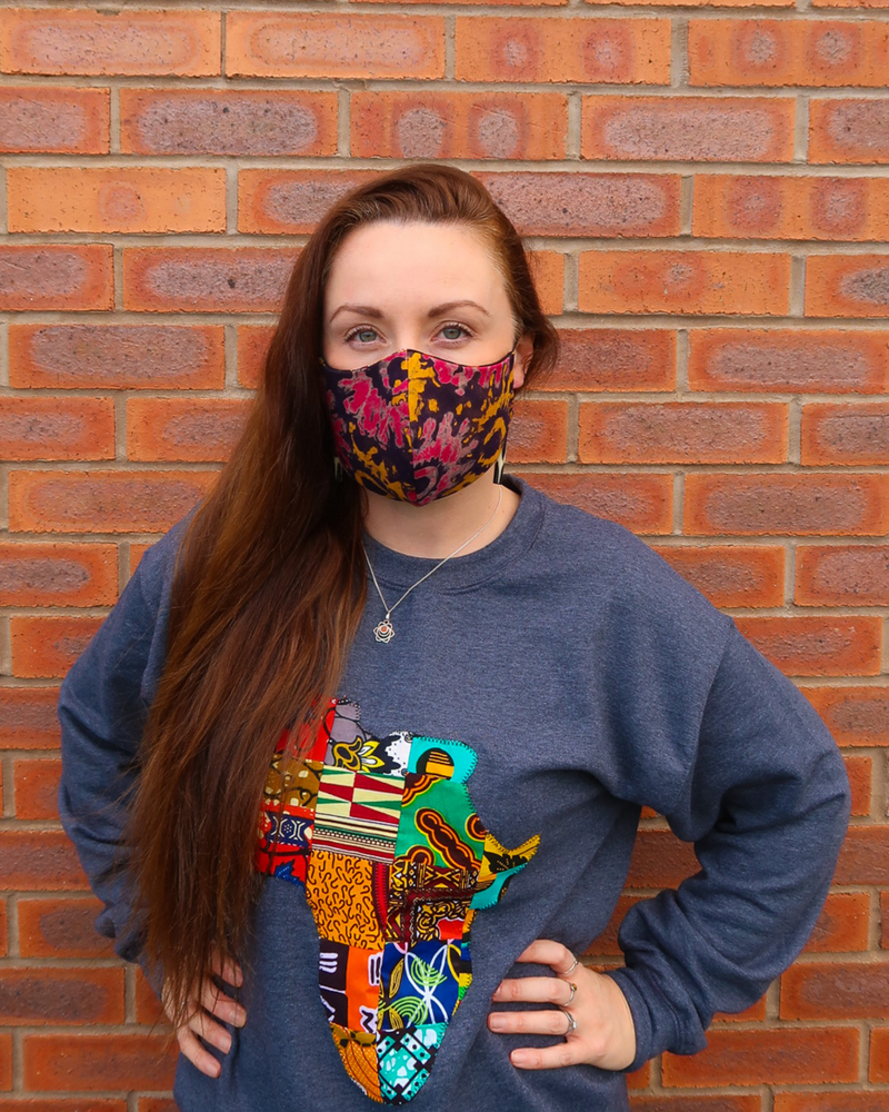 Tanzania Reversible 3-Layer Face Mask (Adult Unisex)