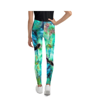 Load image into Gallery viewer, Green Goddess Youth Leggings (Age 7 - 14y)
