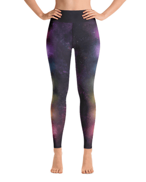 Chakra Galaxy High-Waisted Yoga Leggings