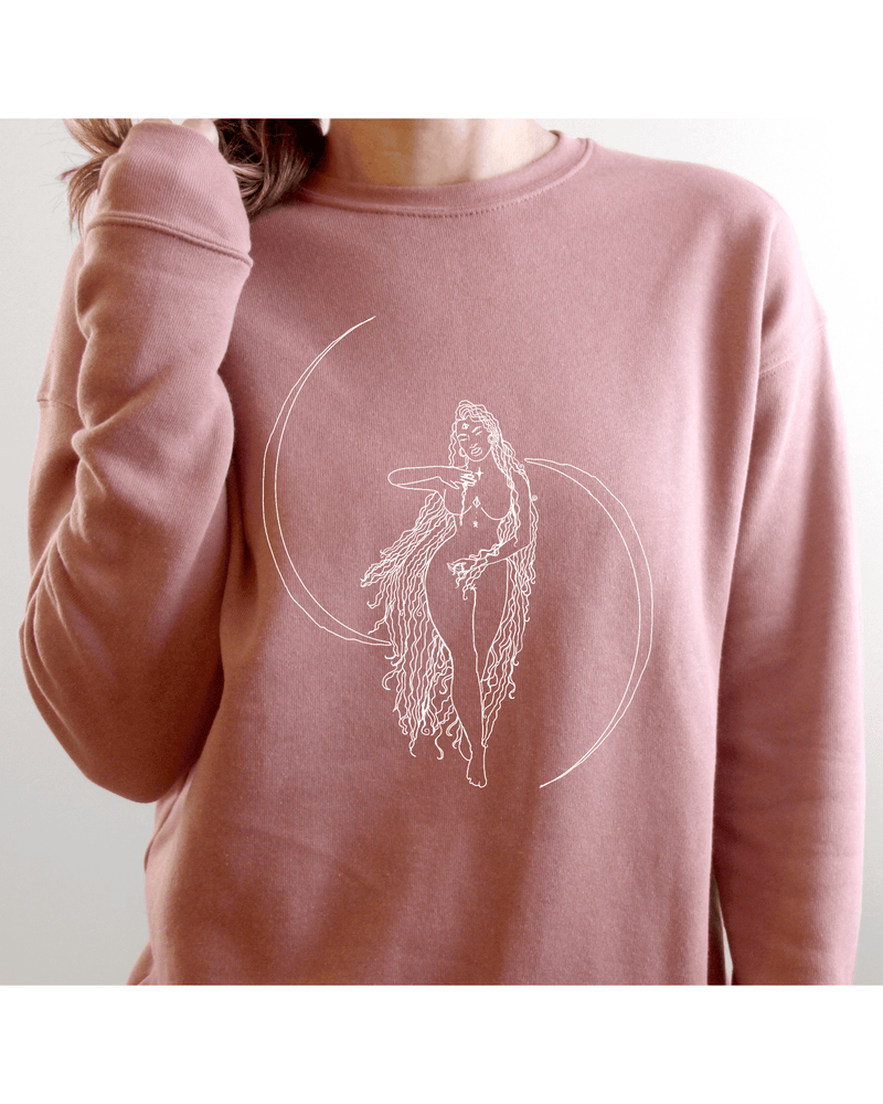 Load image into Gallery viewer, Moon Goddess Cosy Sweatshirt (Unisex)