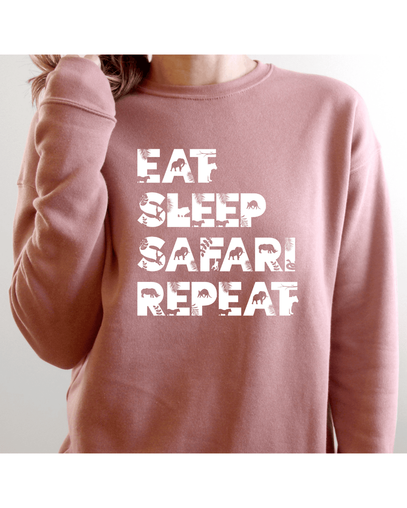 Eat Sleep Safari Repeat Cosy Sweatshirt (Unisex)