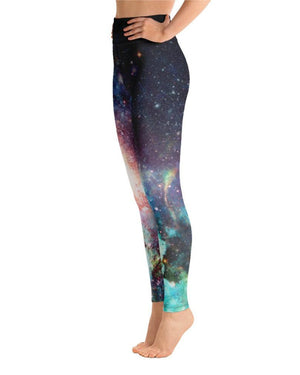 Load image into Gallery viewer, Champagne Supernova High-Waisted Yoga Leggings