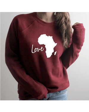 Load image into Gallery viewer, Love Africa Relaxed Sweatshirt (Unisex)