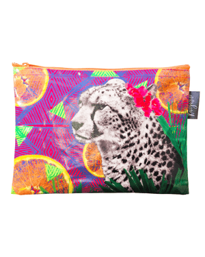 Load image into Gallery viewer, Citrus Cheetah Pouch
