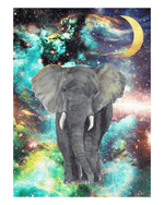 Cosmic Elephant - Green Art Print