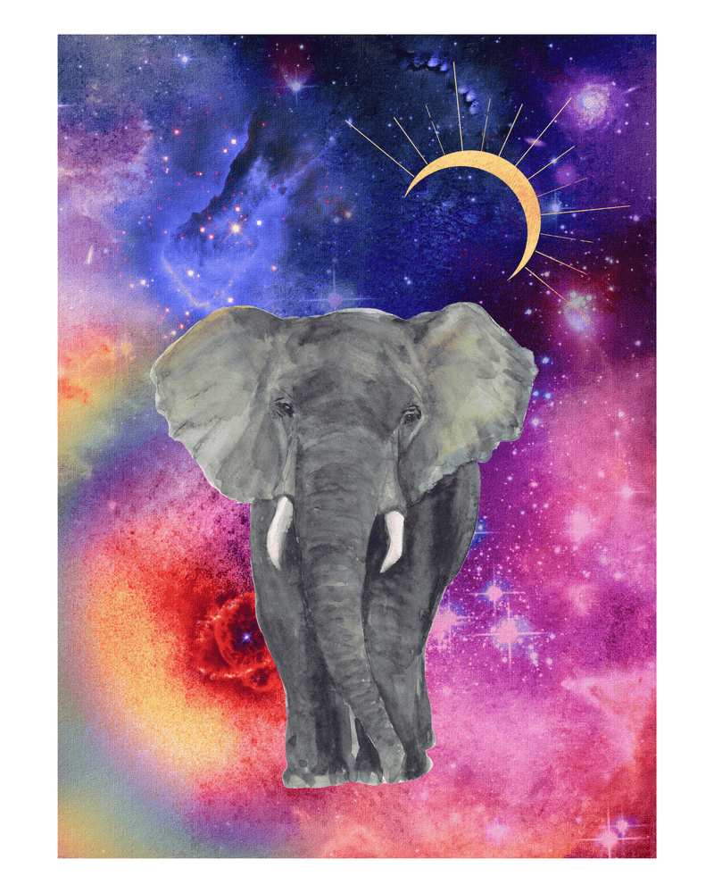 Load image into Gallery viewer, Cosmic Elephant - Pink Art Print