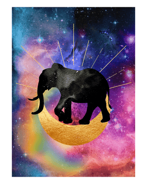 Elephant Moon Art Print