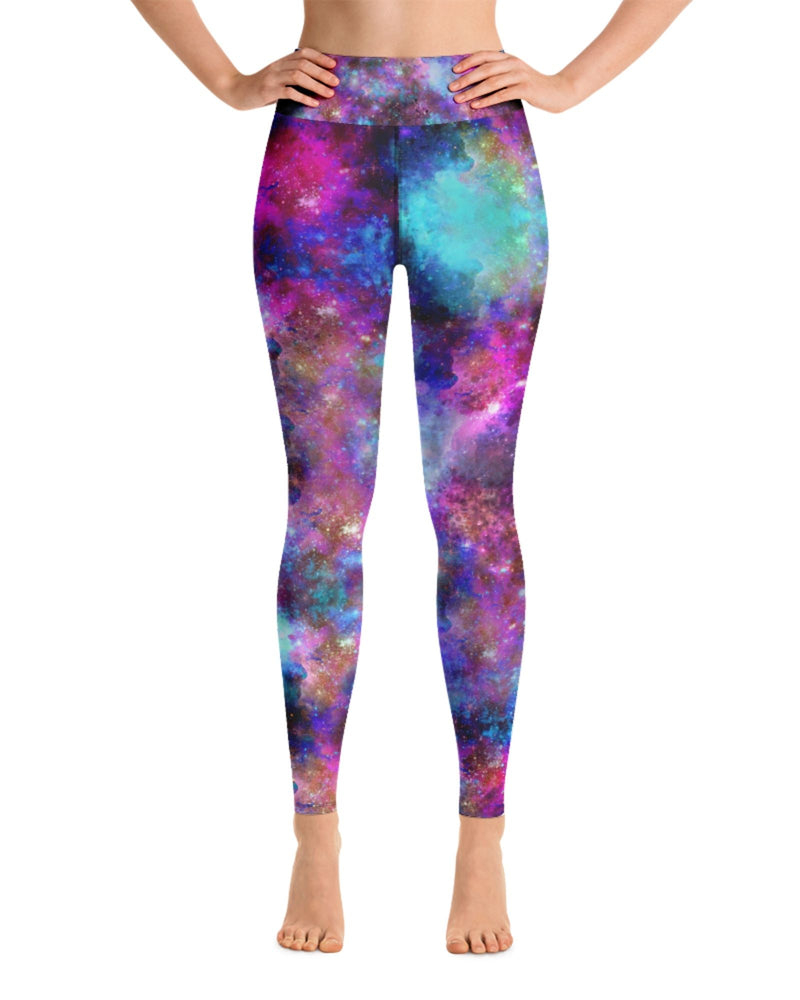 Load image into Gallery viewer, Cosmic Girl High-Waisted Yoga Leggings