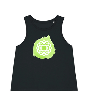 Load image into Gallery viewer, Heart Chakra Cropped Tank