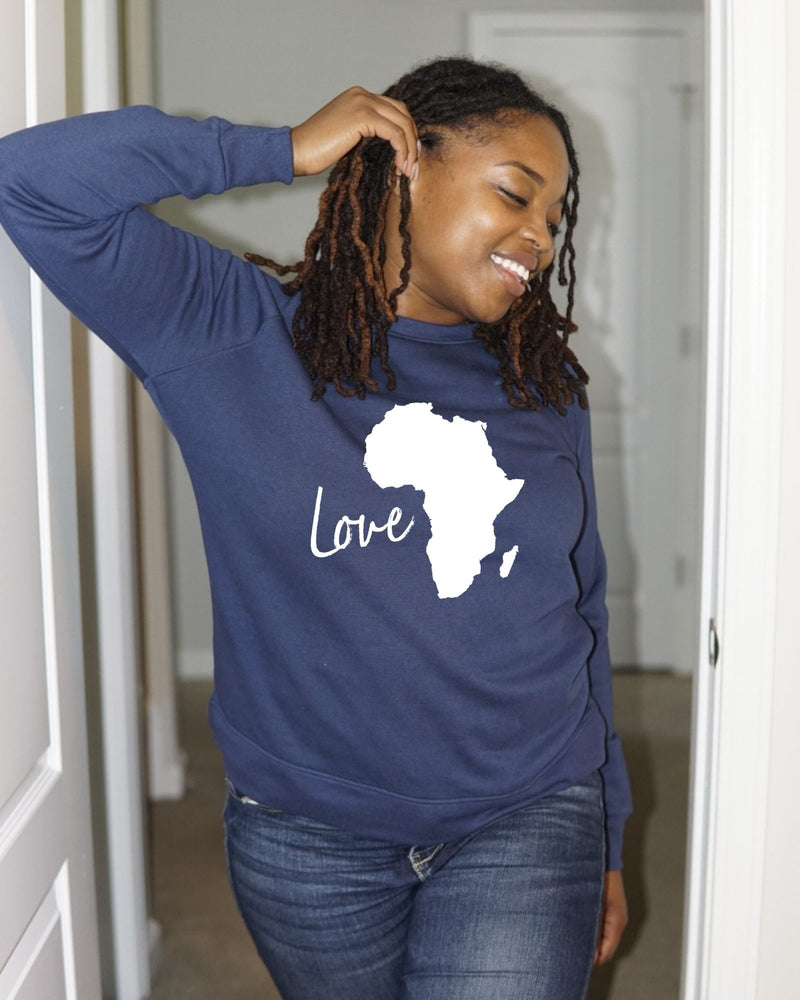Love Africa Relaxed Sweatshirt (Unisex)