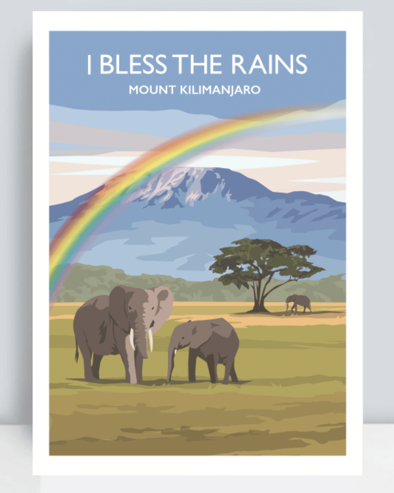 I Bless the Rains Art Print