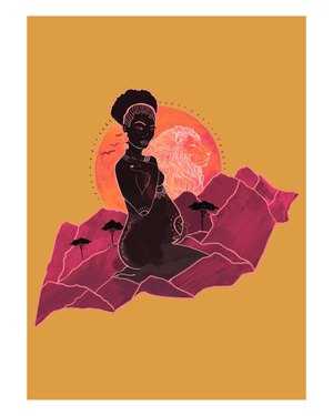 Load image into Gallery viewer, Mama Africa - Fire Art Print