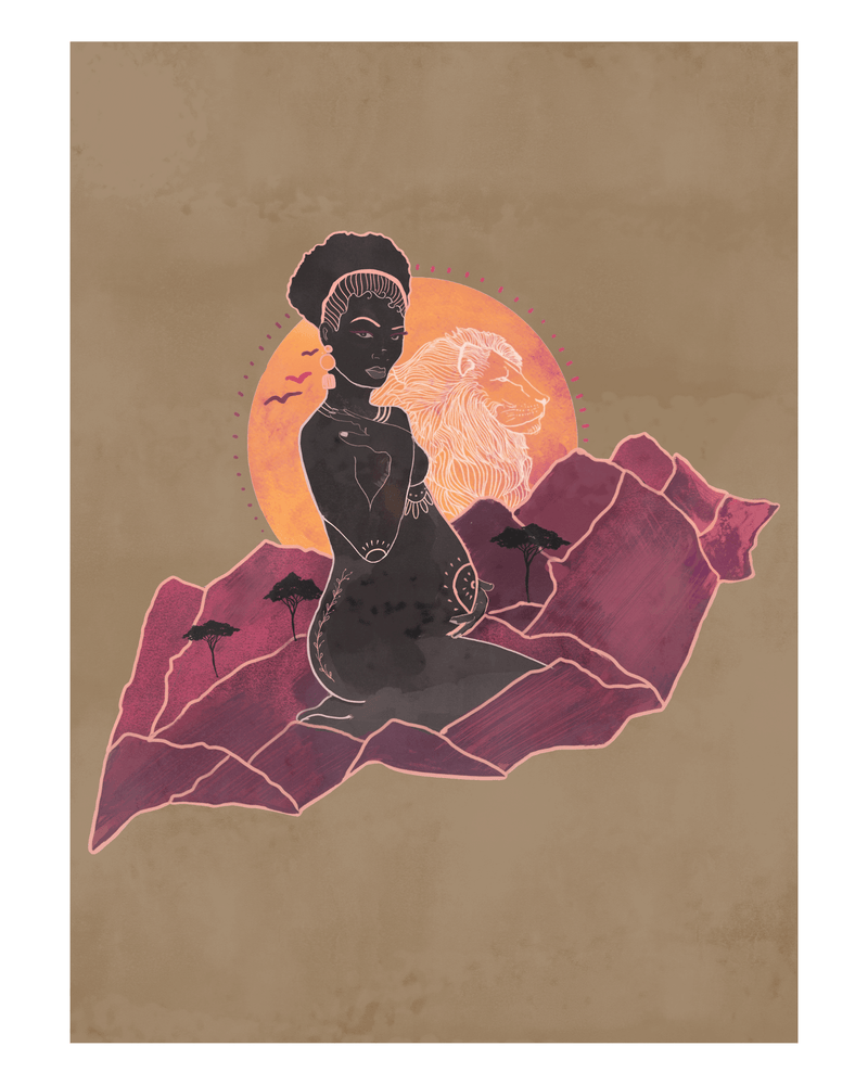 Mama Africa - Earth Art Print