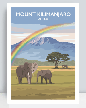 Load image into Gallery viewer, Mount Kilimanjaro Art Print