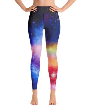 Over the Rainbow High-Waisted Yoga Leggings