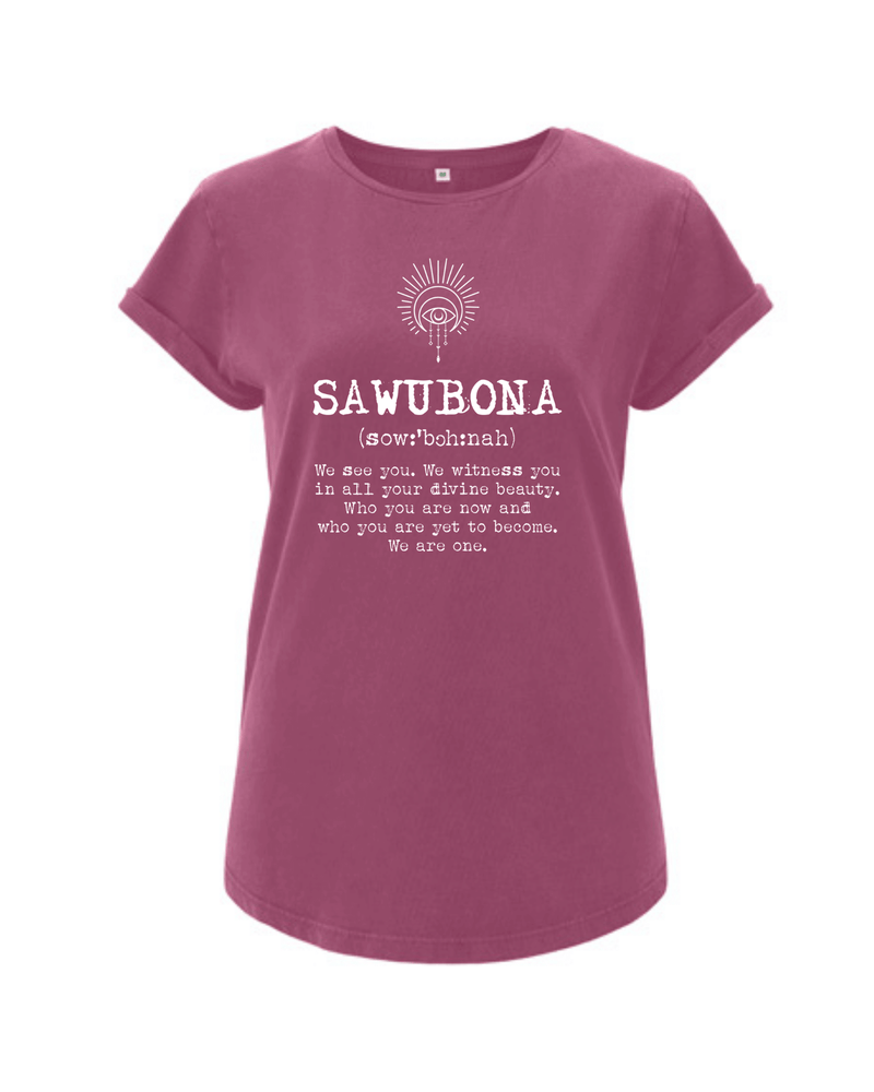 Sawubona Rolled Sleeve T-Shirt