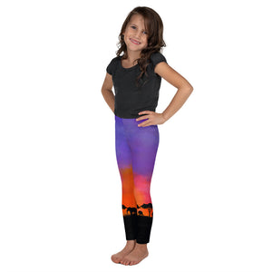 Load image into Gallery viewer, Savanna Sunset Kids Leggings (Age 18m - 7y)