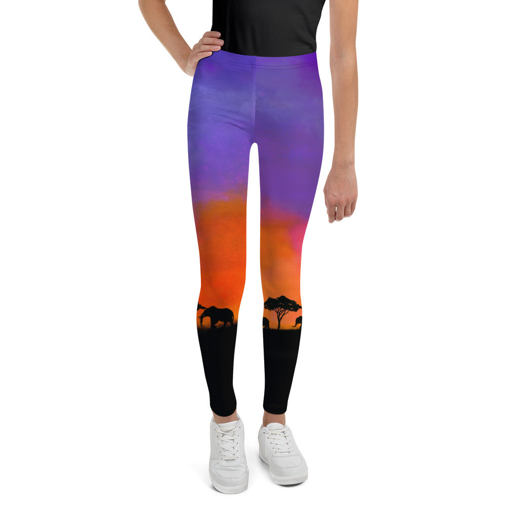 Savanna Sunset Youth Leggings (Age 7 - 14y)