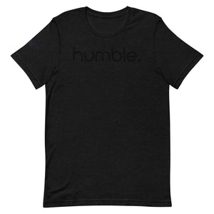 Open image in slideshow, humble Black on Black Tee