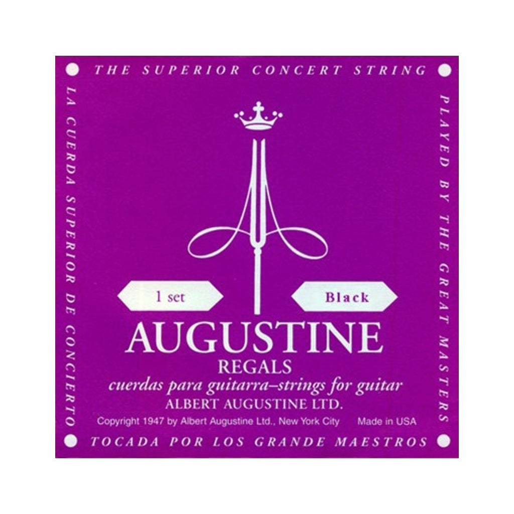 Augustine Regal Classical/Nylon Guitar String Set Low Black