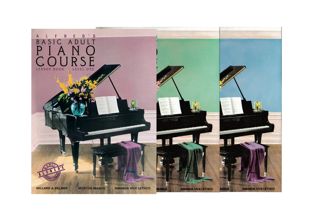 Alfred Basic Adult Piano Course - All Lesson Books