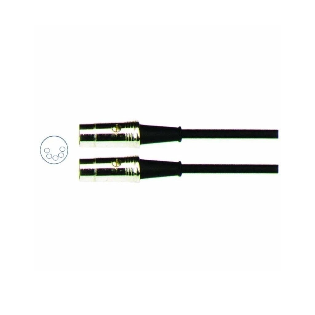 Carson MIDI Cable (Chrome Plugs 6mm): 3 Foot/0.91m