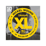 D'Addario XL Nickel Wound Electric Guitar Strings 10-Pack