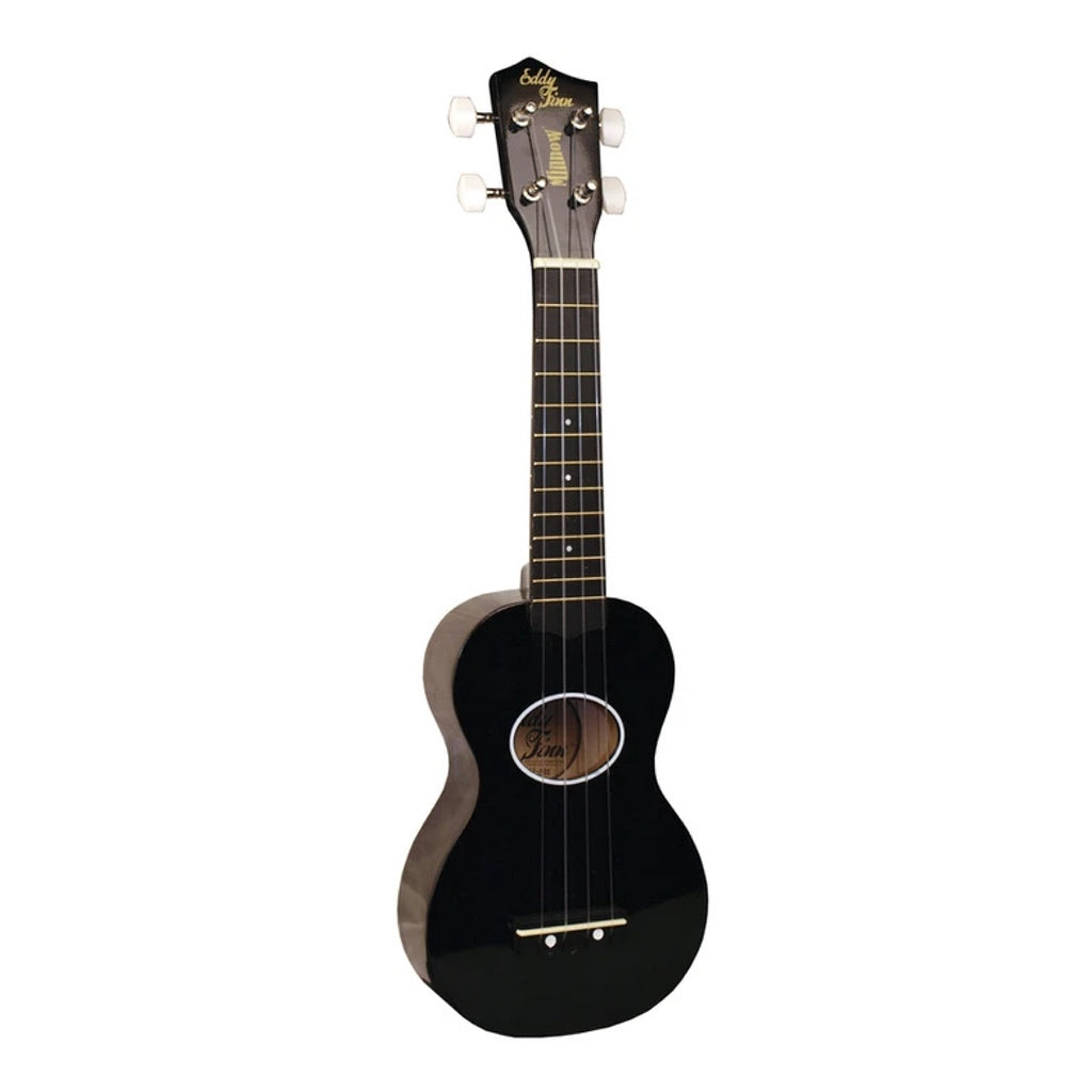 Eddy Finn Minnow Soprano Travel Ukulele Black