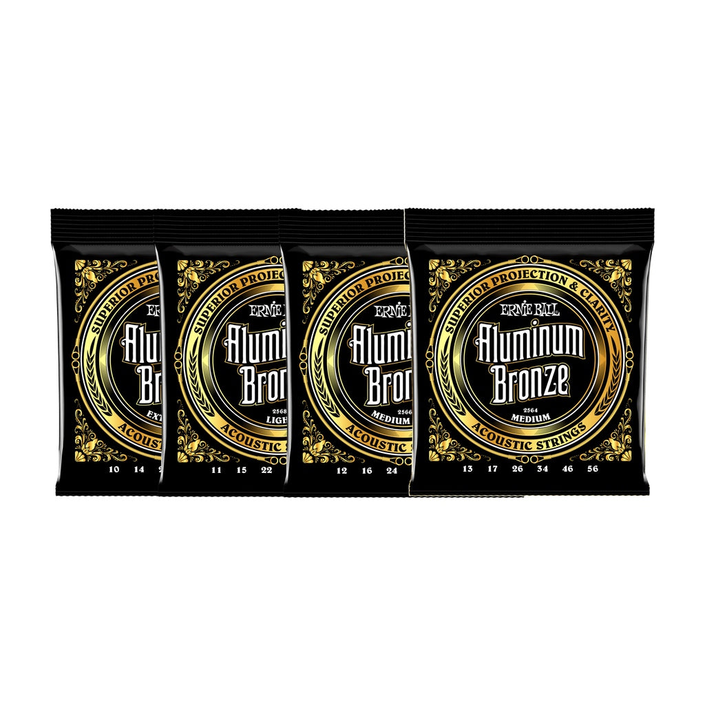 Ernie Ball Aluminium Bronze Acoustic Guitar Strings: Medium Light - 12-54