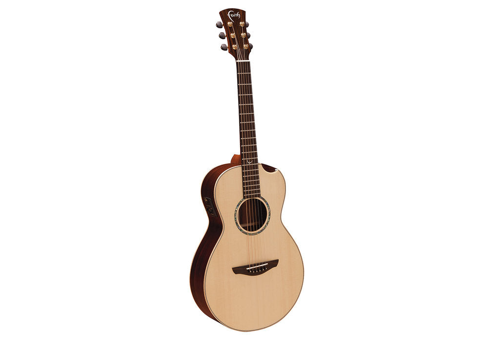 Faith HiGloss Mercury Electro Scoop Acoustic/Electric Parlour Guitar - Music Corner North