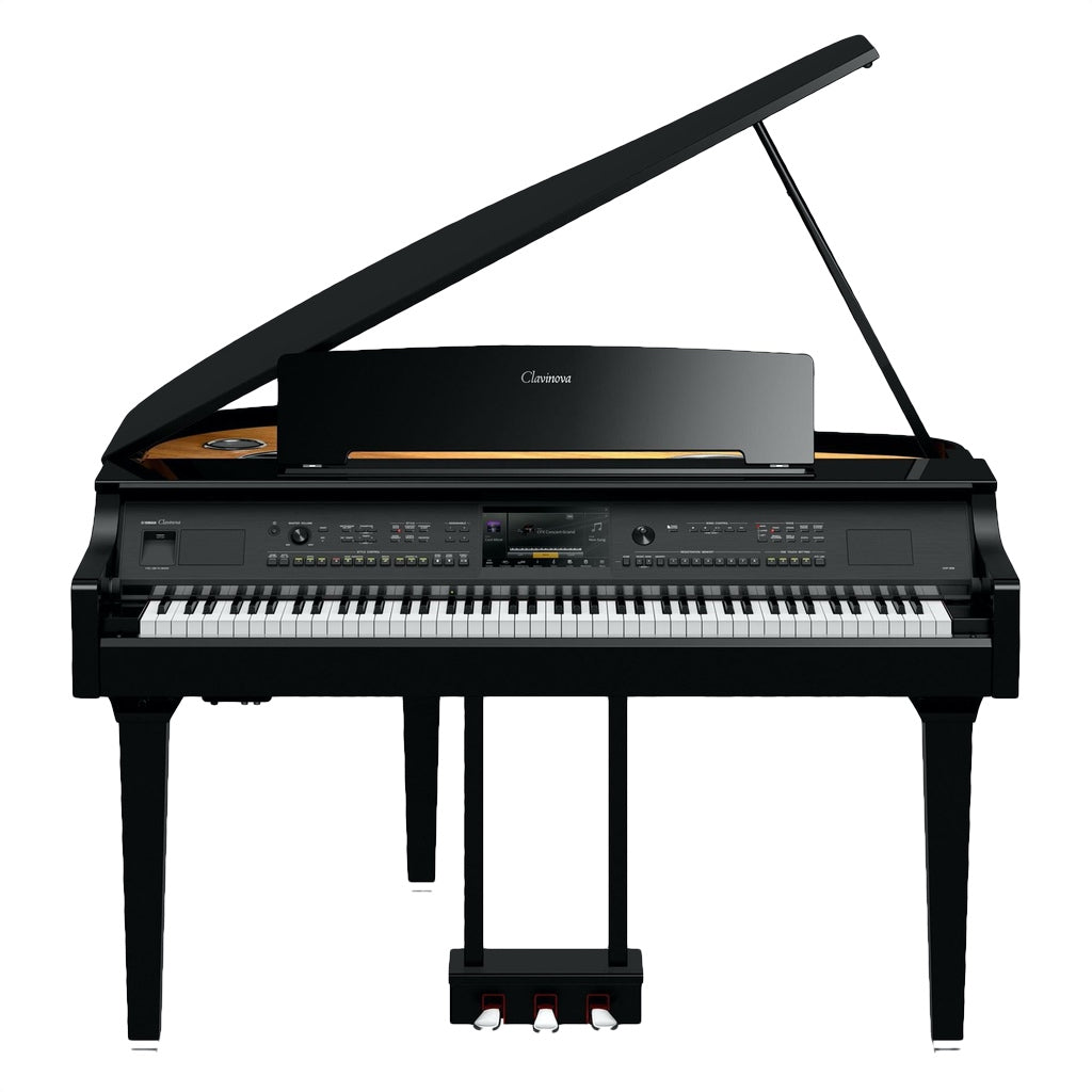 Yamaha Clavinova CVP-809GP Mini Grand Digital Piano in Polished Ebony - Music Corner North