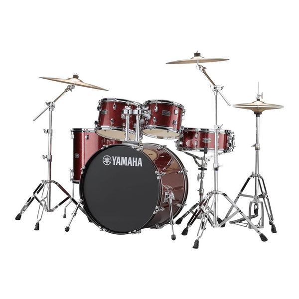 Yamaha Rydeen Acoustic Drum Kit Euro Burgundy Glitter