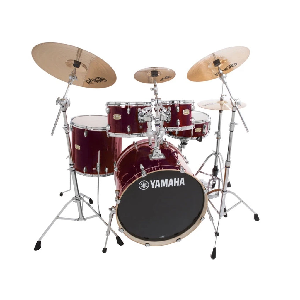Yamaha Stage Custom Birch Acoustic Drum Kit Euro Cranberry Red