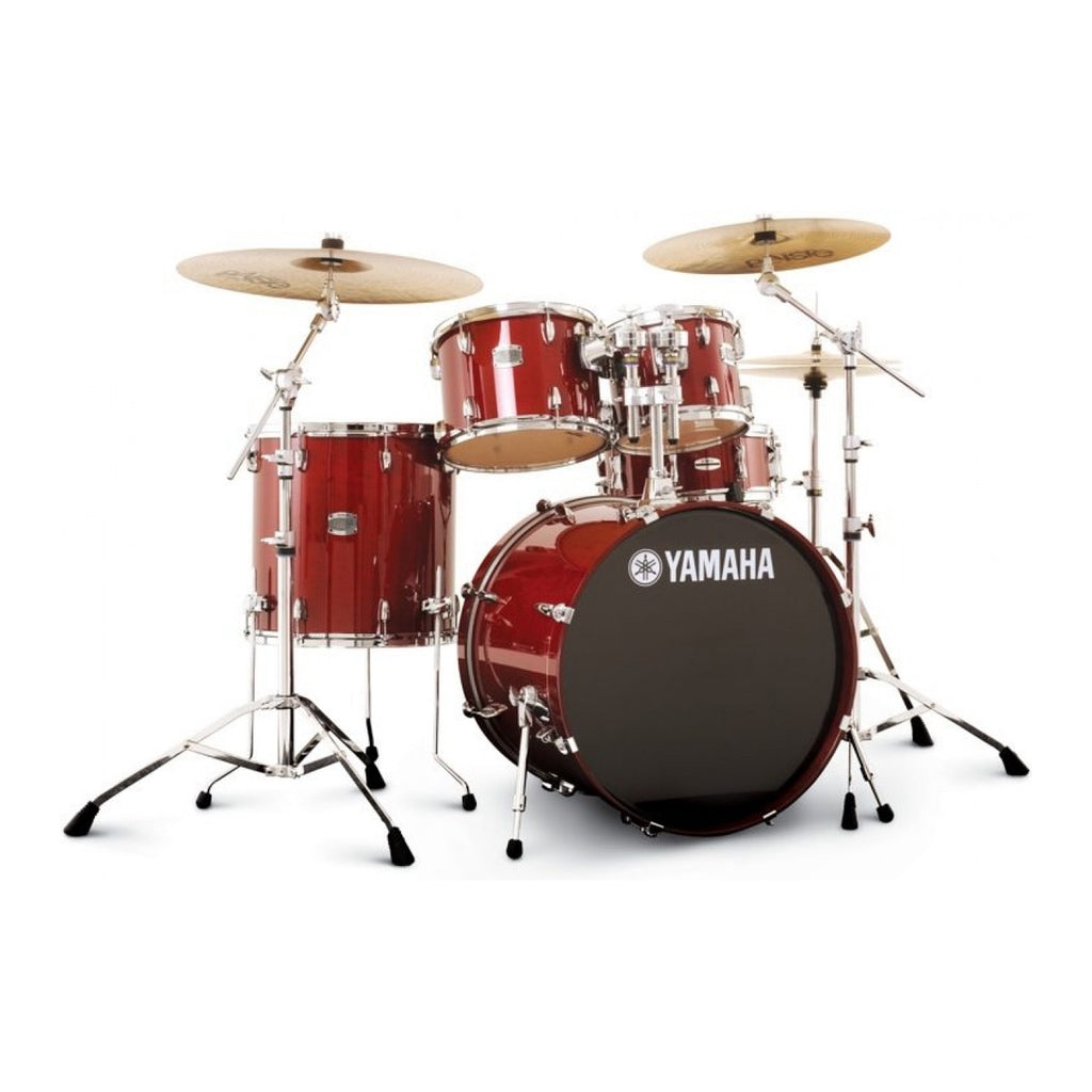 Yamaha Stage Custom Birch Acoustic Drum Kit Fusion Cranberry Red