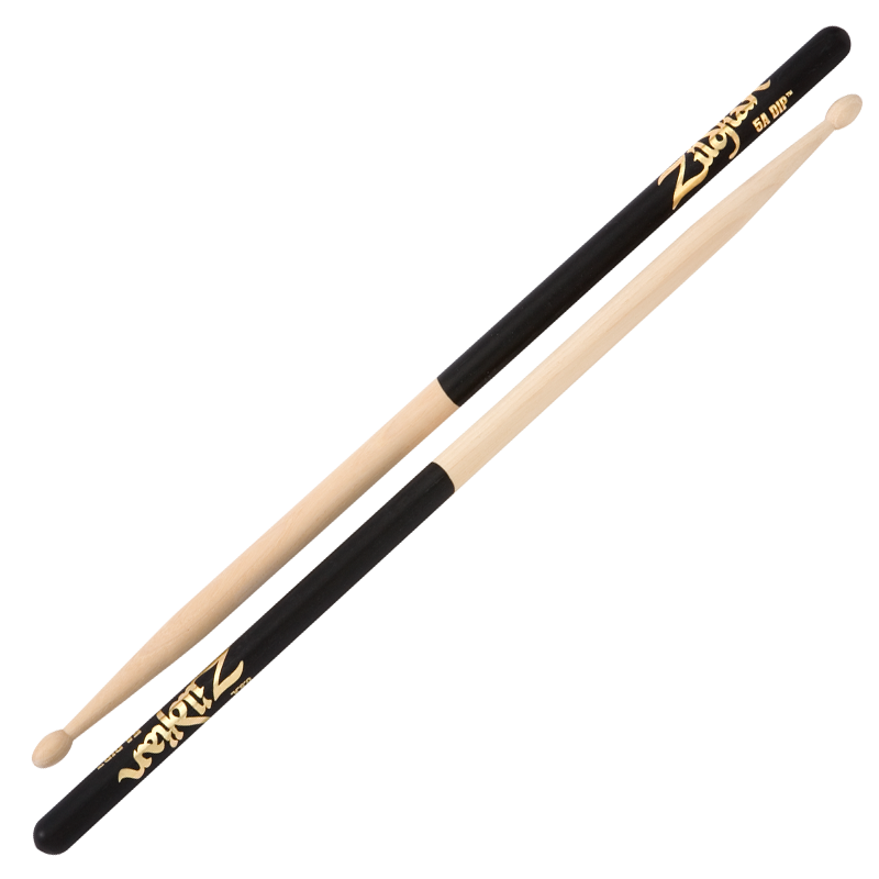 Zildjian 5A Wood Black Dip Drumsticks