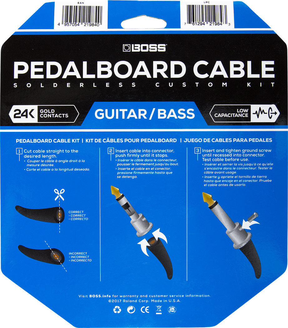 Boss BCK-12 Solderless Pedalboard Cable Kit
