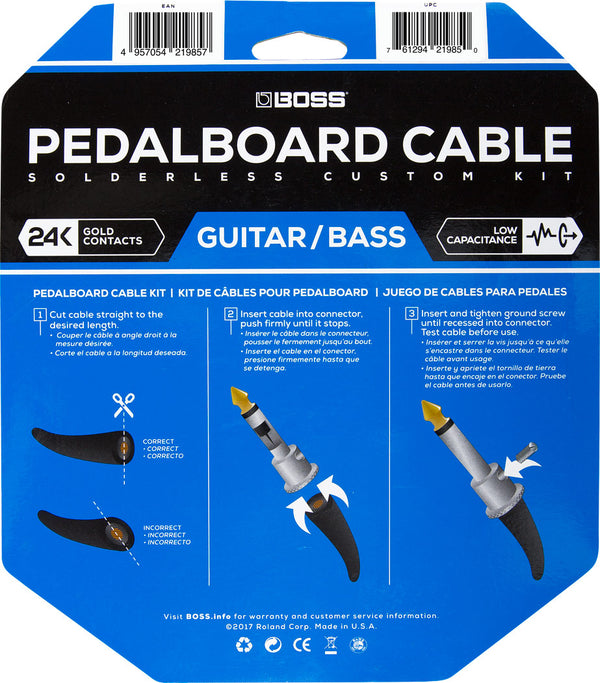 Boss BCK-24 Solderless Pedalboard Cable Kit