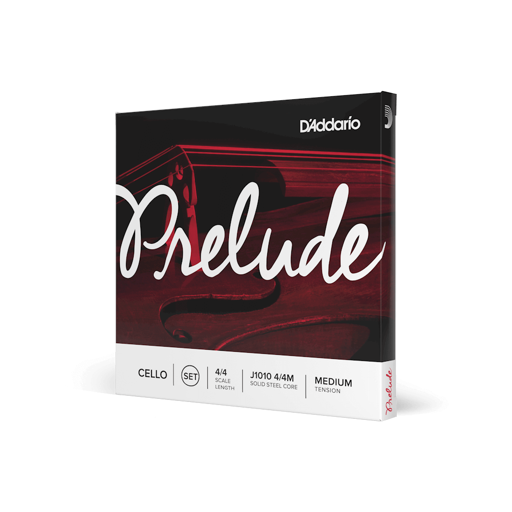 D'Addario Prelude 4/4 Size Cello String Set Medium Tension