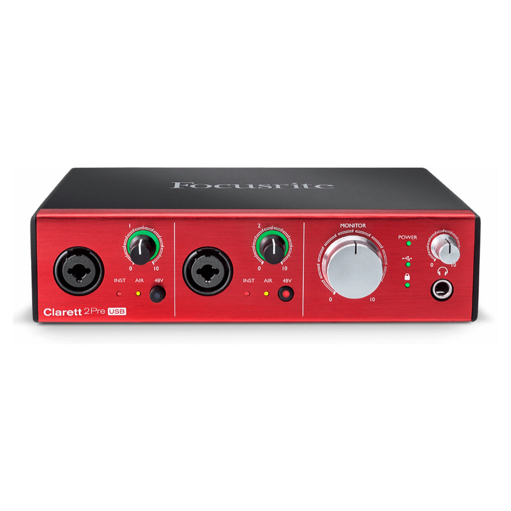 Focusrite Clarett 2Pre USB 10-In 4-Out Audio Interface