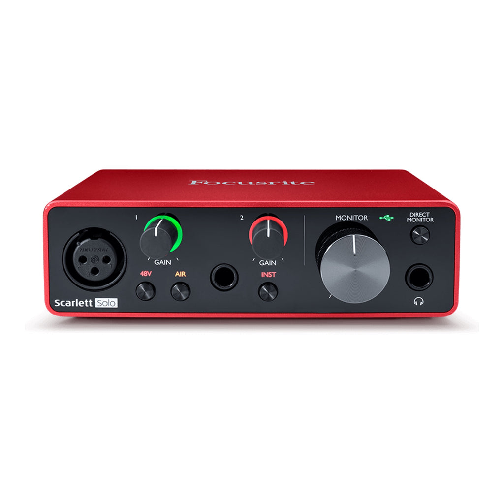 Focusrite Scarlett Solo 2i2 USB Audio Interface GEN 3