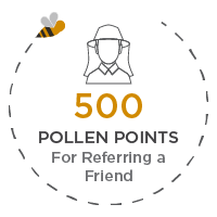 500 pollen points for referring a friend
