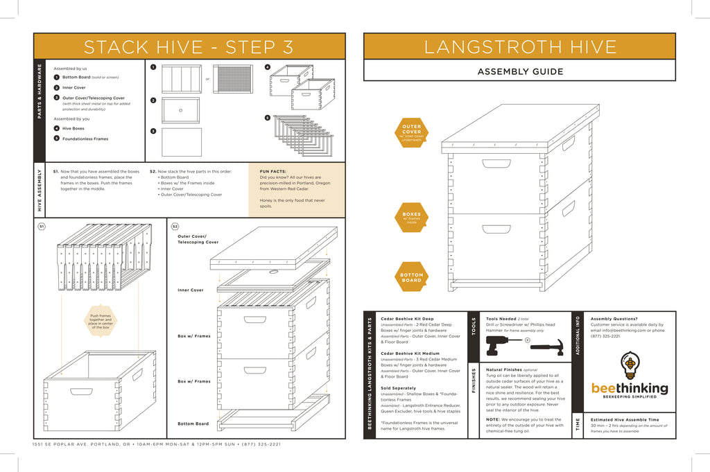 Langstroth Hive Assembly Instructions