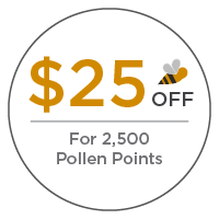 $25 off for 2500 pollen points