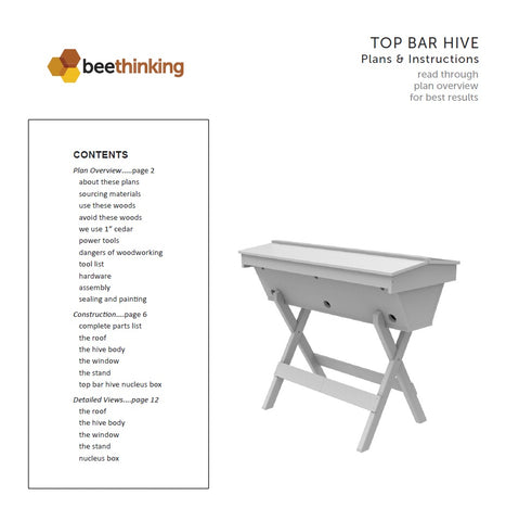 Plans For Constructing Your Own Top Bar Hive -Bee Built